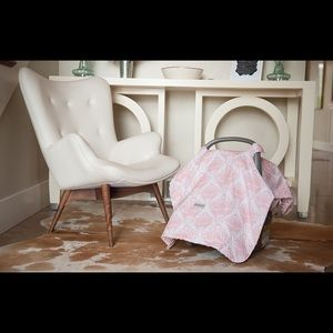 Pink Damask Carseat Cover